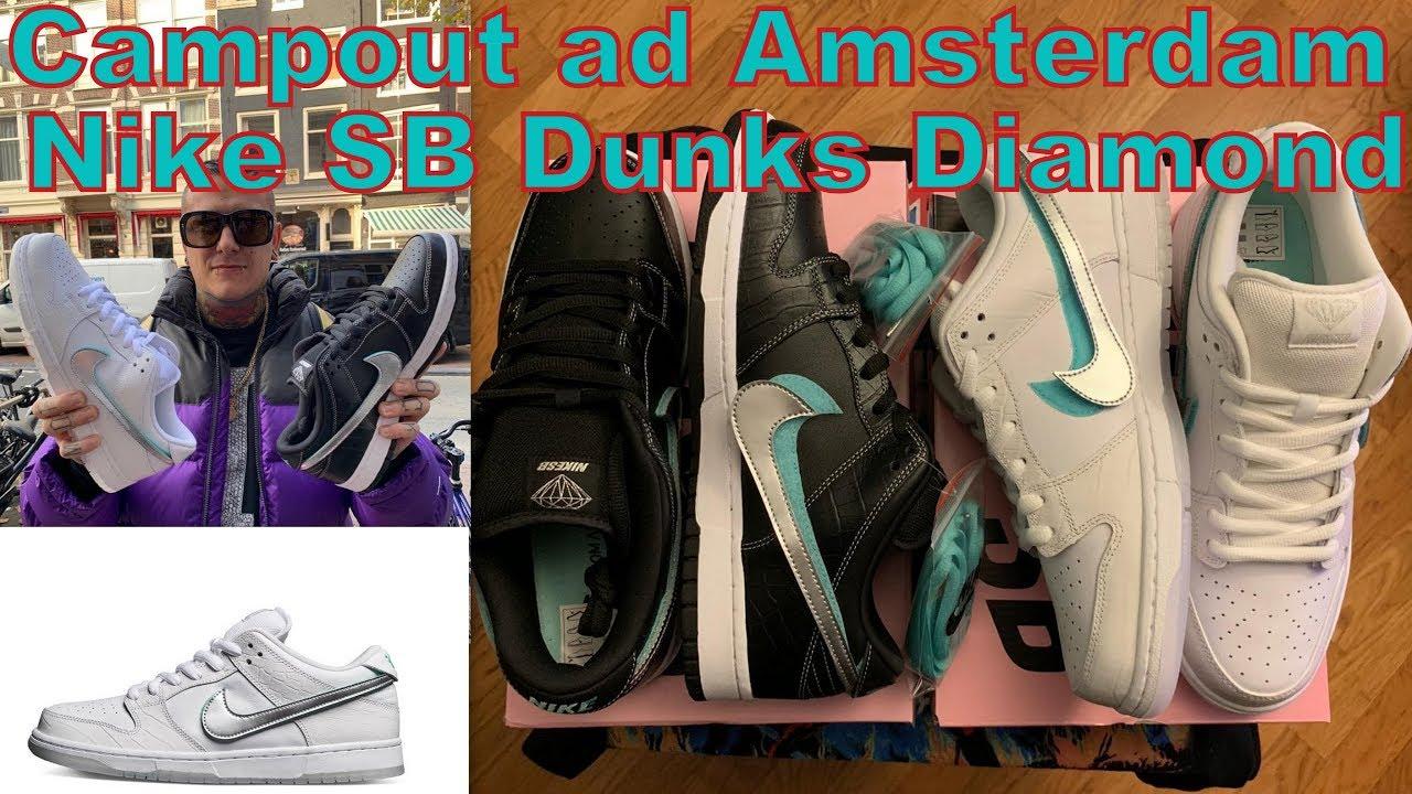 Campout / Unboxing ad Amsterdam per le Nike SB Dunks Diamond