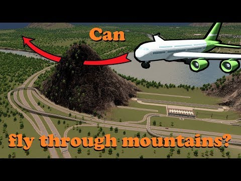 Can airplanes fly through mountains?! [Challenge]