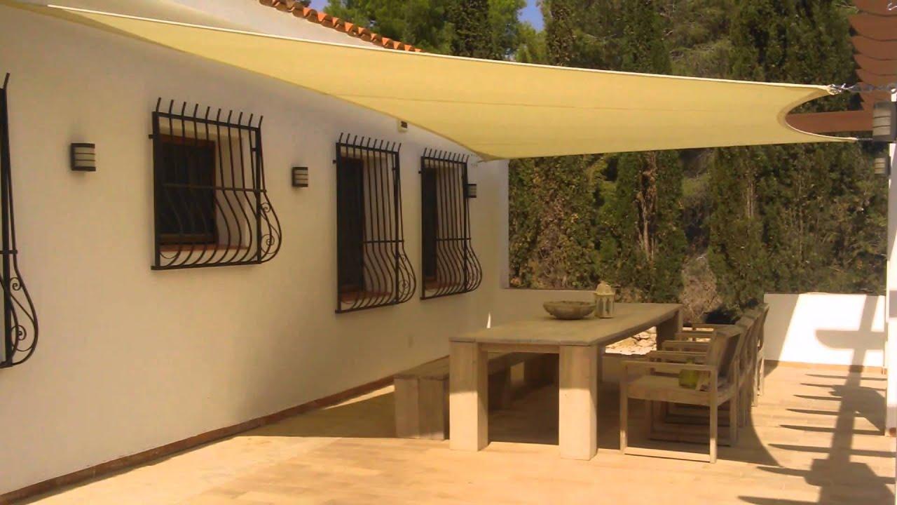 Toldos vela para terrazas good outsunny toldo vela - Toldos velas para terrazas ...