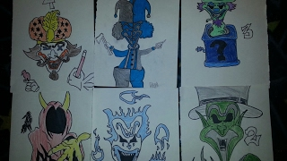 "The Joker cards ""my version drawing"""