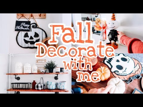 DECORATE WITH ME FOR HALLOWEEN! || 2019 Fall Decor Haul & Decorate With Me