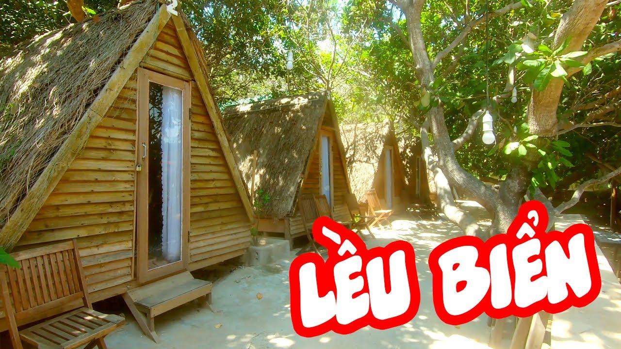 Trải nghiệm lều ngoài bãi biển + phòng gia đình ở resort Sao Biển, Cam Ranh | Thiên Di vlog | go2eat