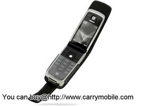 Carrymobile Leather Case for Nokia 6600 Fold - Flip Type (Bl