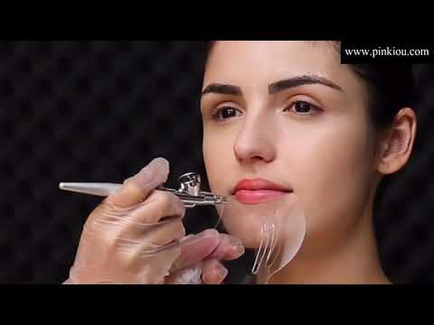 How to make a perfect eyebrow shadow with Pinkiou Airbrush Makeup kit