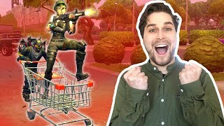 *NEW* MET SHOPPING CART 16 KILLS HALEN! - Fortnite Battle Royale (Nederlands)