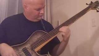 Brubaker Fretless bass - bassist Darrell Craig Harris in Tokyo