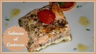 Salmone Al Cartoccio - Baked Salmon Fillet (eng Sub)