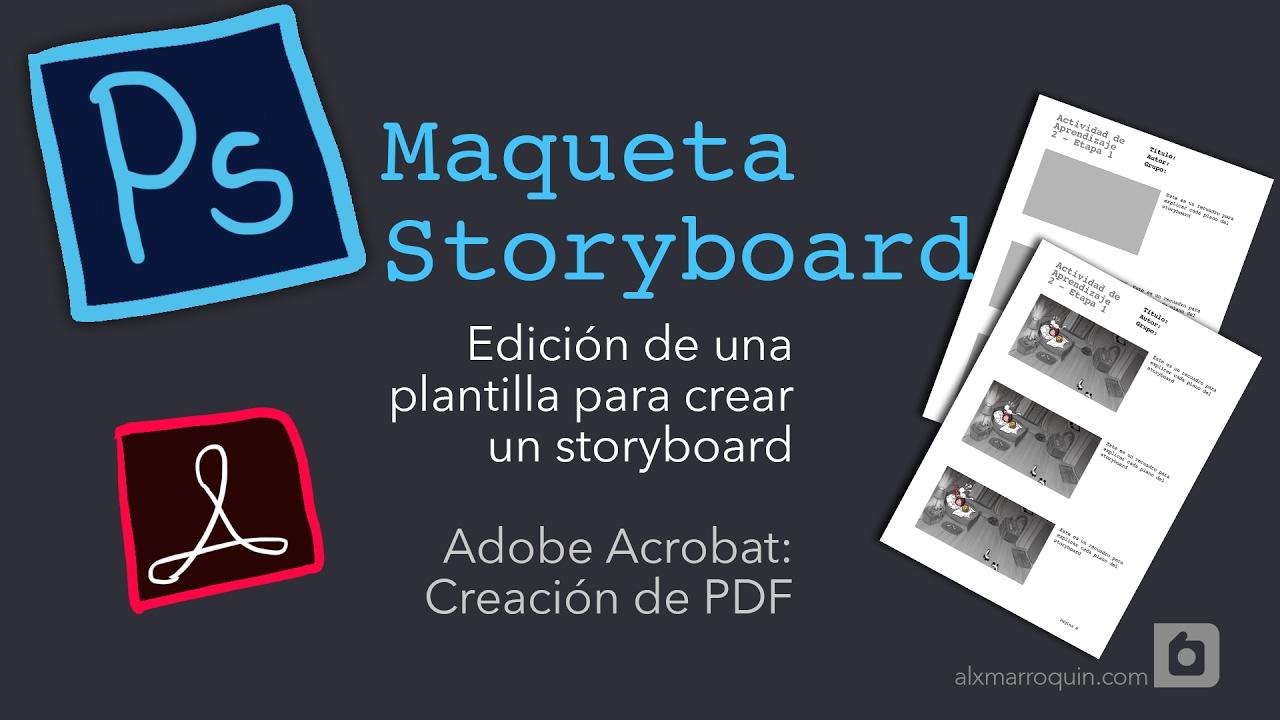 Photoshop Acrobat - Diseño de Plantilla para Storyboard - PDF - YouTube