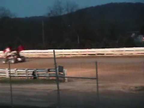 Selinsgrove Speedway 358 Sprint Car Highlights 4-03-10