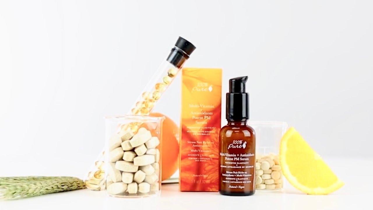 multi vitamin antioxidants potent pm serum youtube