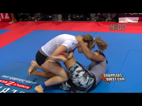 FEMALE SUBMISSION - Chasity DeLeon  Vs Rose Namajunas At Grapplers Quest No Gi BJJ Grappling Action