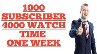 How to Get 1000 Subscribers in Just One week new youtube channel UrduHindi