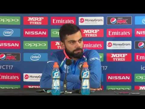 Virat Kohli after winning  India vs Bangladesh ICC champions trophy match - Press conference - 2017