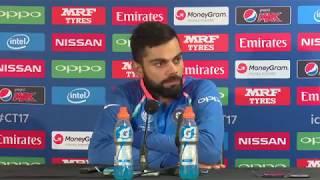 virat kohli after winning india vs bangladesh icc champions trophy match press conference 2017