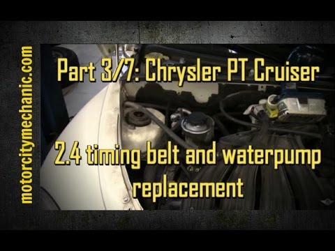part 3 7 chrysler pt cruiser timing belt and waterpump. Black Bedroom Furniture Sets. Home Design Ideas