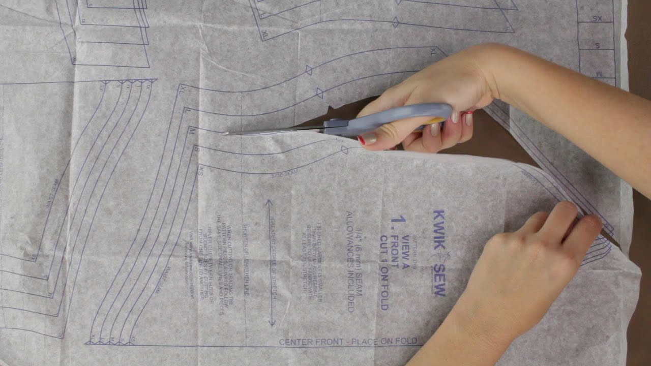 How to cut out sewing pattern pieces updated youtube jeuxipadfo Image collections