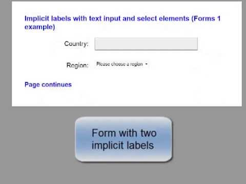 Accessible Forms 1: Labels and identification | Web Usability