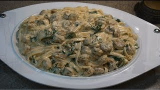 Sonya's Created Creamy Chicken Sausage W/ Fresh Spinach Alfredo Recipe