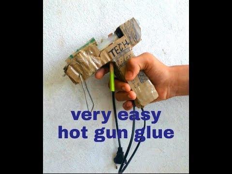 How to make hot glue gun at home .very easy hot gun