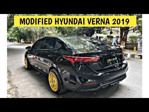 Modified Hyundai Verna 2019 | New Hyundai Verna 2019 Modifications | Black Modified Verna From Delhi