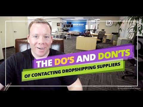 Dos And Don'ts Of Contacting US Dropshipping Suppliers