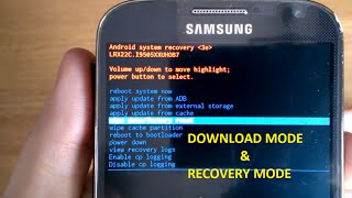 Download Mode, Recovery Mode, Wipe Data, Reset Factory, Galaxy S4 S5