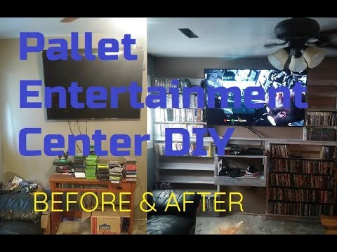 Pallet Entertainment Center DIY BEFORE & AFTER