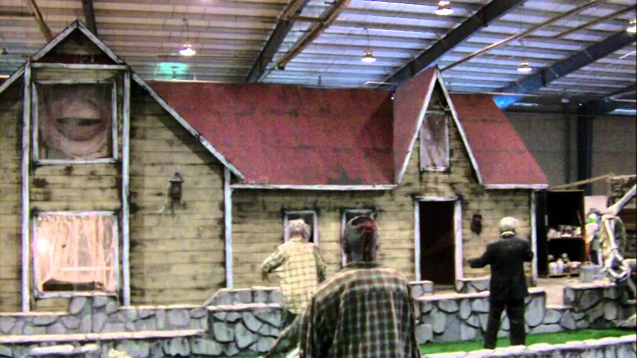 Haunted house facade built in 3 days youtube for Build your house