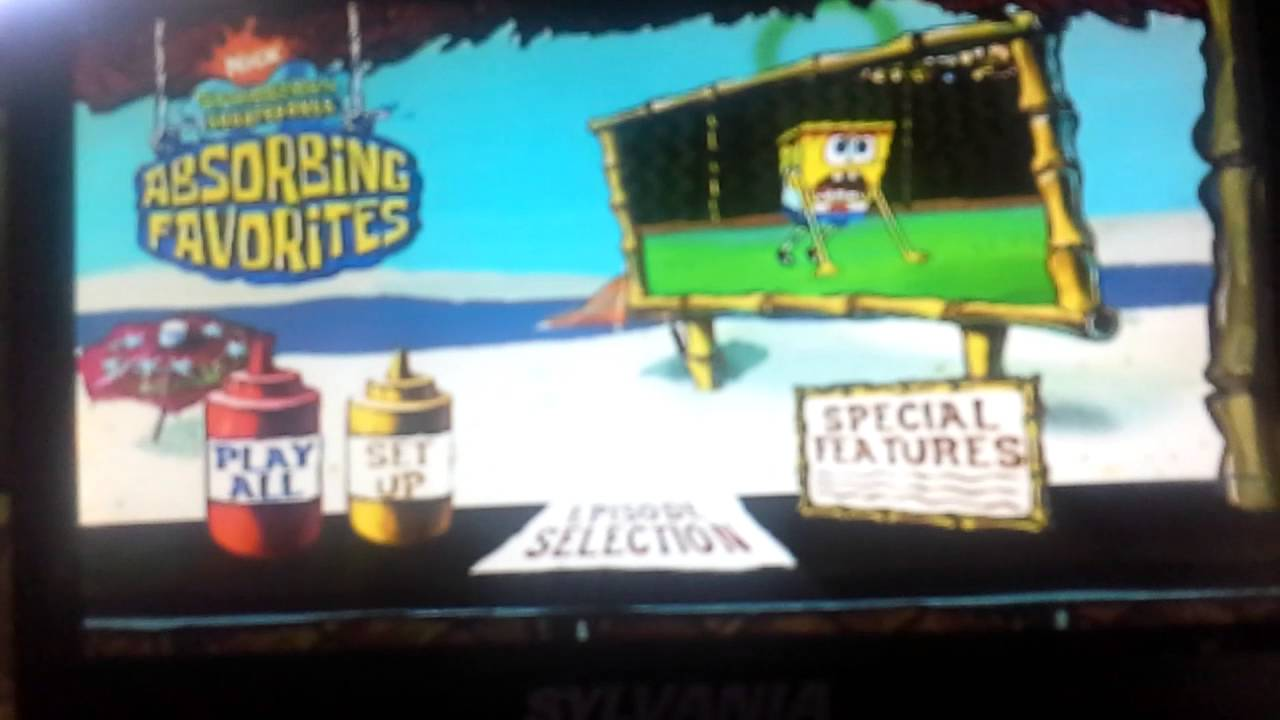 Spongebob Absorbing Favorites Dvd