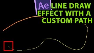 After Effects Tutorial: Line draw effect with a custom animation path