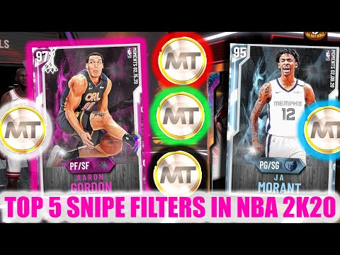TOP 5 SNIPE FILTERS IN NBA 2K20! DO THIS RIGHT NOW! | NBA 2K20 MY TEAM