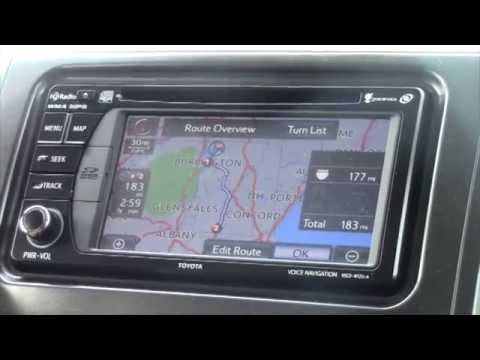 2014 Toyota Sienna Bluetooth And Navigation For Rita Youtube