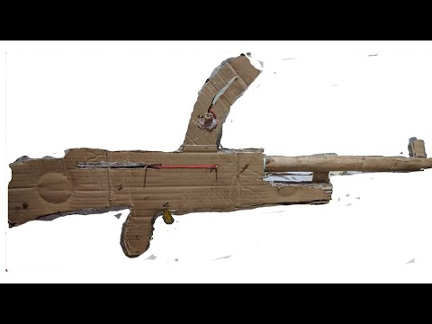 How to make a cardboard BREN LMG ww2 weapon  that shoots very easy!!!!!!!!