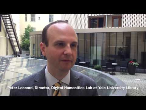 Dr. Peter Leonard on text and data mining at Yale University Library