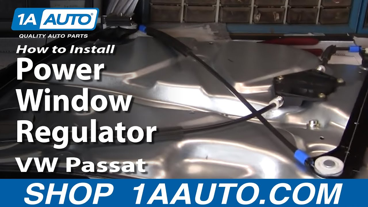 How To Install Replace Power Window Regulator Vw Passat 98