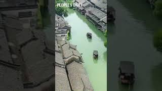 Wuzhen, an idyllic water town, locates in the north of Tongxiang, E China's Zhejiang Province