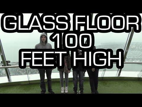 Walking On A GLASS FLOOR 100m Up! - Spinnaker Tower | Vlog
