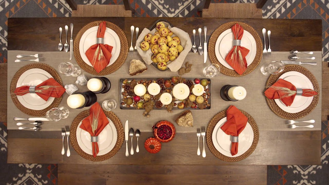 Thanksgiving Table Setting, Just Like That™ - YouTube