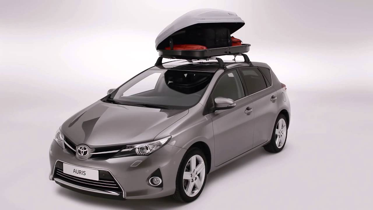 Prius Roof Rack >> Toyota's How To Install A Luggage Box - YouTube