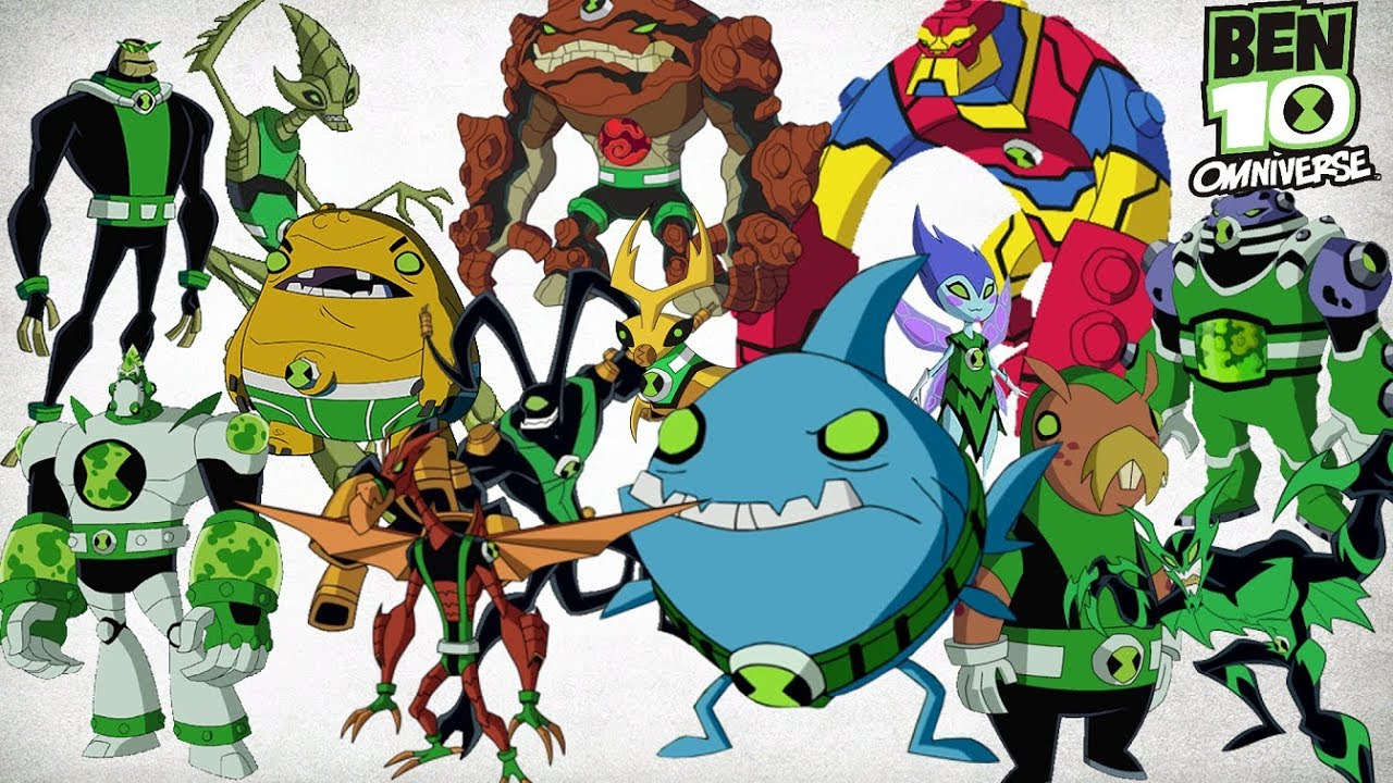 Ben 10 Omniverse All Aliens 2017!