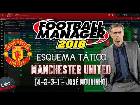 Football Manager 2016 (FM 2016) - ESQUEMA TÁTICO - (MANCHESTER UNITED FC. - José Mourinho)