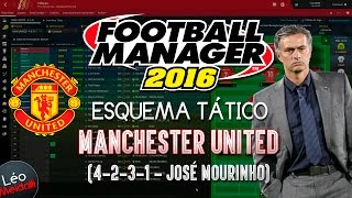 ESQUEMA TÁTICO DO MANCHESTER UNITED (4-2-3-1) José Mourinho - Football Manager 2016 (FM 2016)