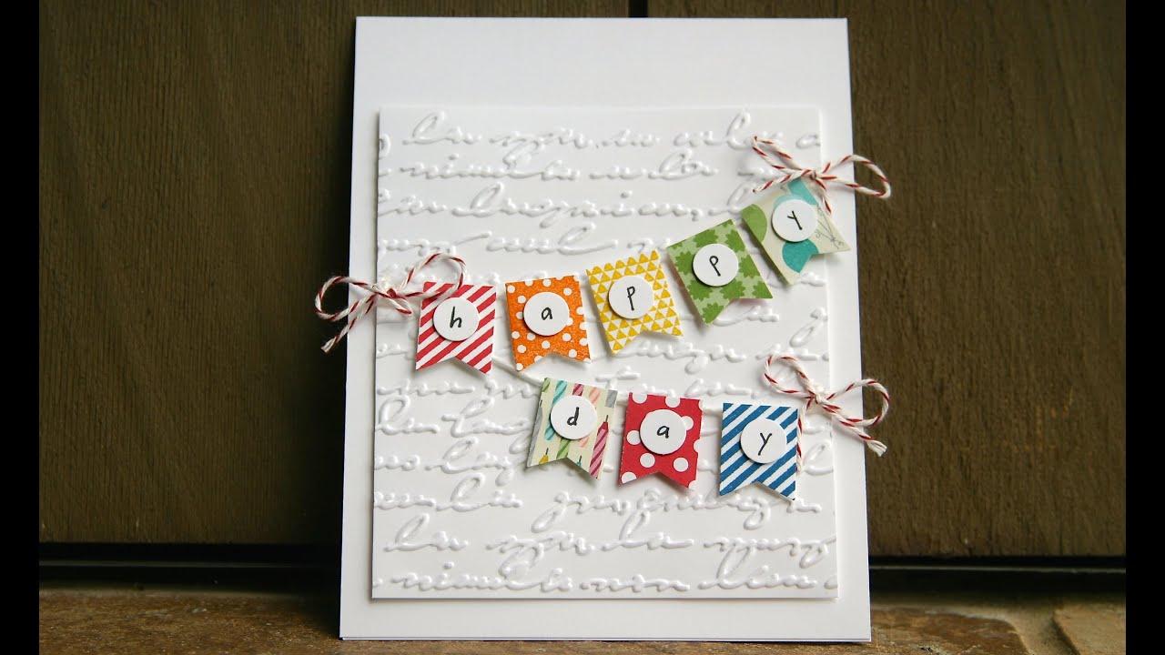 stampin' up birthday card using banner punch, Birthday card