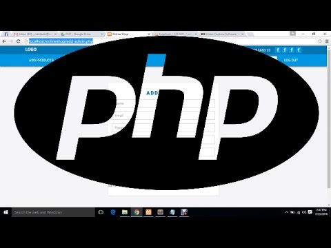 E commerce Website Development | PHP | Part - 01