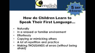 Day 1: Learn to Speak & Understand English Fast E-Course