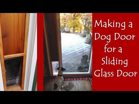 making a dog door for the sliding glass door