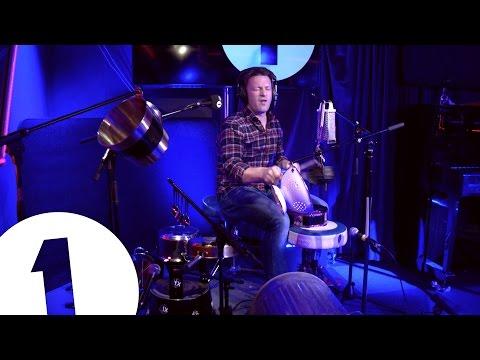 Jamie Oliver Plays Greg James' Pots and Pans Drum Kit