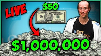 $50 to $1,000,000!! - BANKROLL CHALLENGE Day 1 Highlights @ GG Poker