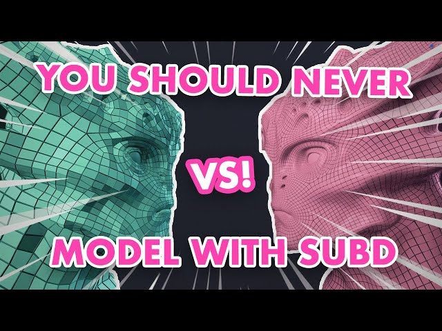 Why You Should Never Model with Subdivisions Active - 3D Modeling Fundamentals
