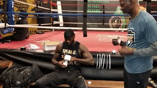 DEONTAY WILDER LIVE FROM TRAINING CAMP  !